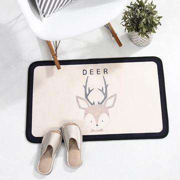 个性动物地垫丹麦风格地毯客厅茶几毯 卧室书房吊椅垫子长方形地垫电脑椅垫