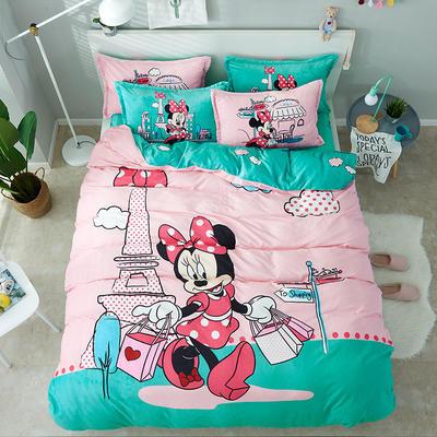 微来家纺 正版迪士尼法莱绒四件套 1.2m(4英尺)床 购物天堂