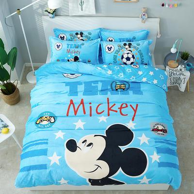 微来家纺 正版迪士尼法莱绒四件套 1.2m(4英尺)床 梦想米奇