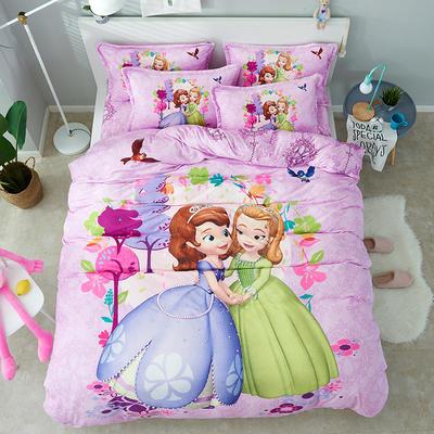 微来家纺 正版迪士尼法莱绒四件套 1.2m(4英尺)床 好闺蜜