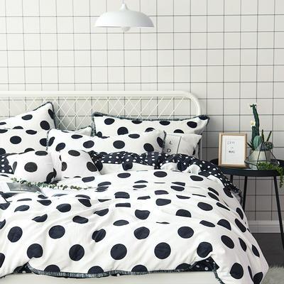 牛奶绒四件套造梦师系列法莱绒四件套 1.5m(5英尺)床 黑白格双拼