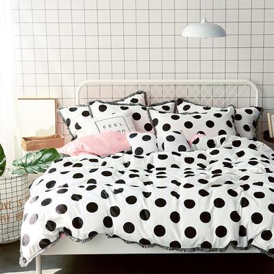 牛奶绒四件套造梦师系列法莱绒四件套 1.5m(5英尺)床 粉色大波点