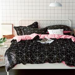 牛奶绒四件套造梦师系列法莱绒四件套 1.5m(5英尺)床 粉色三角