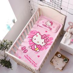 正品HelloKitty婴儿凉席冰丝儿童婴儿床凉席幼儿园宝宝专用席夏季新生儿午睡凉席 120cmX60cm 冰淇淋