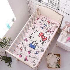 正品HelloKitty婴儿凉席冰丝儿童婴儿床凉席幼儿园宝宝专用席夏季新生儿午睡凉席 120cmX60cm 蓝色小清新
