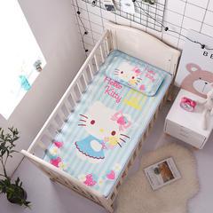 正品HelloKitty婴儿凉席冰丝儿童婴儿床凉席幼儿园宝宝专用席夏季新生儿午睡凉席 120cmX60cm 草莓季节