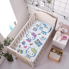 正品HelloKitty婴儿凉席冰丝儿童婴儿床凉席幼儿园宝宝专用席夏季新生儿午睡凉席 120cmX60cm 精彩生活