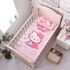 正品HelloKitty婴儿凉席冰丝儿童婴儿床凉席幼儿园宝宝专用席夏季新生儿午睡凉席 120cmX60cm 美妆达人