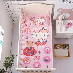 正品HelloKitty婴儿凉席冰丝儿童婴儿床凉席幼儿园宝宝专用席夏季新生儿午睡凉席 120cmX60cm 浪花夏日