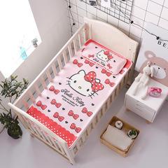正品HelloKitty婴儿凉席冰丝儿童婴儿床凉席幼儿园宝宝专用席夏季新生儿午睡凉席 120cmX60cm 美艳凯蒂