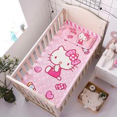 正品HelloKitty婴儿凉席冰丝儿童婴儿床凉席幼儿园宝宝专用席夏季新生儿午睡凉席 120cmX60cm 糖果萌猫