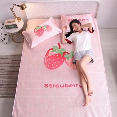 2019新款爆款冰丝凉席 180*200cm(1.8m床) 小草莓