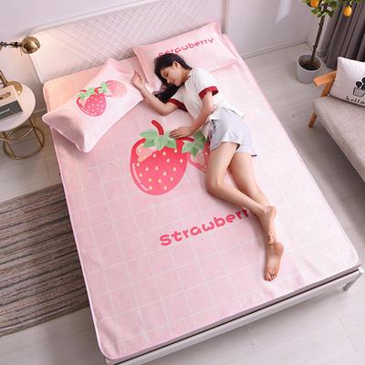 2020-时尚款冰丝席系列 120*195cm 1.2床 小草莓