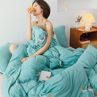 2020新款全棉针织棉印花四件套 1.5m床单款四件套 凯丝丽雅
