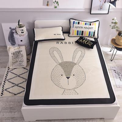 2021新款春夏冰丝席三件套(北欧风) 1.5m凉席三件套 兔子
