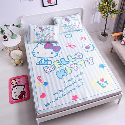2021新款Hello Kitty提花冰丝凉席三件套 1.5m凉席三件套 冰点