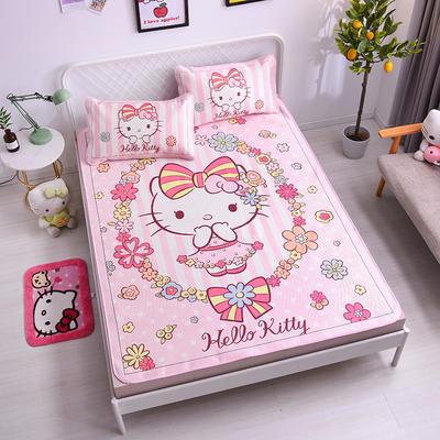 2021新款Hello Kitty提花冰丝凉席三件套 1.2m凉席两件套 花信年华