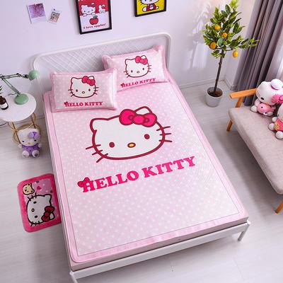 2021新款Hello Kitty提花冰丝凉席三件套 1.5m凉席三件套 经典KT