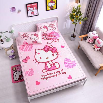 2021新款Hello Kitty提花冰丝凉席三件套 1.2m凉席两件套 靓丽佳人
