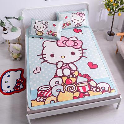 2021新款Hello Kitty提花冰丝凉席三件套 1.2m凉席两件套 美食诱惑