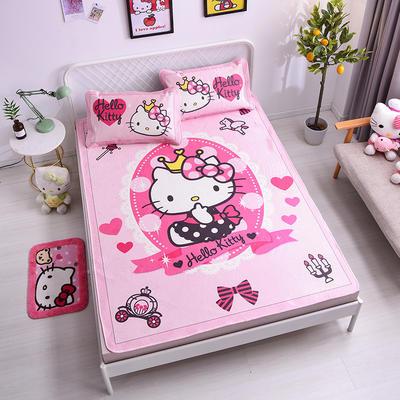 2021新款Hello Kitty提花冰丝凉席三件套 1.5m凉席三件套 魔法棒