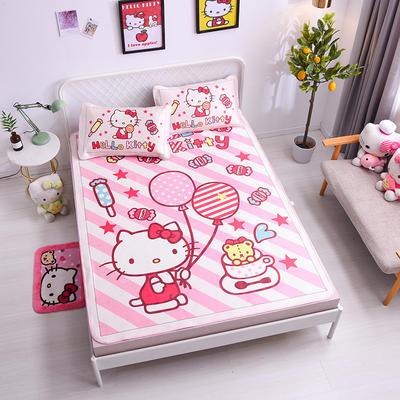 2021新款Hello Kitty提花冰丝凉席三件套 1.5m凉席三件套 童话世界
