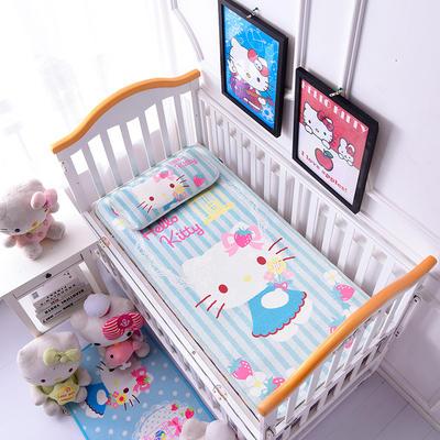 2021新款Hello Kitty冰丝软席童席两件套 60x120cm凉席两件套 草莓季节