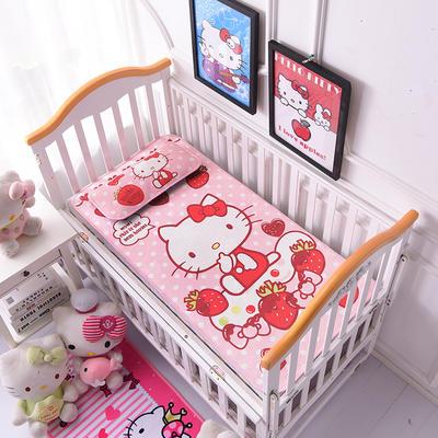 2021新款Hello Kitty冰丝软席童席两件套 60x120cm凉席两件套 草莓蜜语