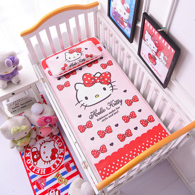2021新款Hello Kitty冰丝软席童席两件套 60x120cm凉席两件套 美艳凯蒂