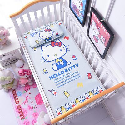 2021新款Hello Kitty冰丝软席童席两件套 60x120cm凉席两件套 酸奶KT