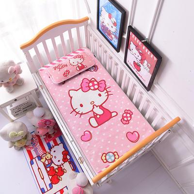 2021新款Hello Kitty冰丝软席童席两件套 60x120cm凉席两件套 糖果萌猫