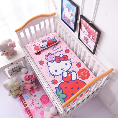 2021新款Hello Kitty冰丝软席童席两件套 60x120cm凉席两件套 甜心草莓