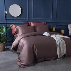 100S锦缎素色系列 标准1.5m-1.8m床 羽沫紫