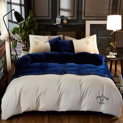 纽约款丽丝绒(纽约款丽丝绒) 1.8m(6英尺)床 蓝色
