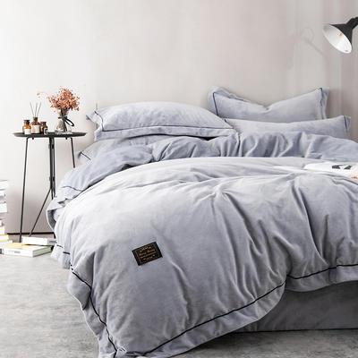 2018新款安吉拉水晶绒四件套 1.2m(4英尺)床 安吉拉灰色
