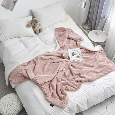 2018新款兔兔绒毛毯 100*150cm 粉玉