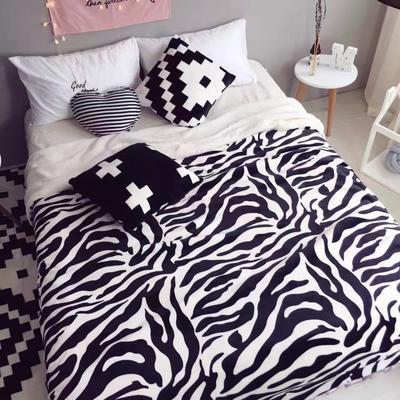 毯子系列 绒毯 150*200cm 斑马