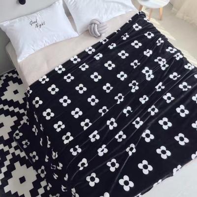 毯子系列 绒毯 150*200cm 黑花