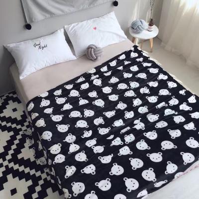 毯子系列 绒毯 150*200cm 黑熊