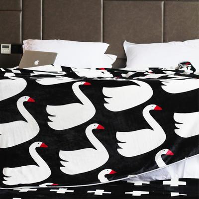 毯子系列 绒毯 150*200cm 天鹅