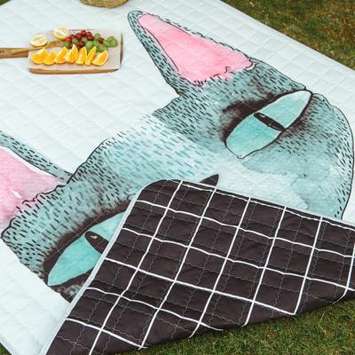CHIC野餐垫 治愈卡通系 140*200cm 北欧猫