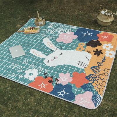 CHIC野餐垫 治愈卡通系 140*200cm 花朵兔