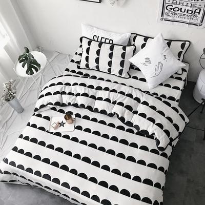 2017亲肤牛奶绒四件套 1.5m(5英尺)床 ins半圆