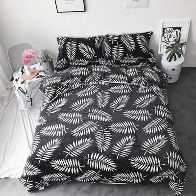 2017亲肤牛奶绒四件套 1.5m(5英尺)床 网红叶子