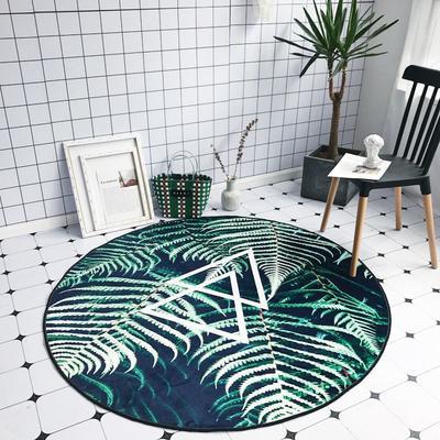2018新款-chic6月份圆形地毯 145*145 3d植物