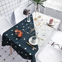 2018新款-chic桌布 140*180 拼接黑白波点