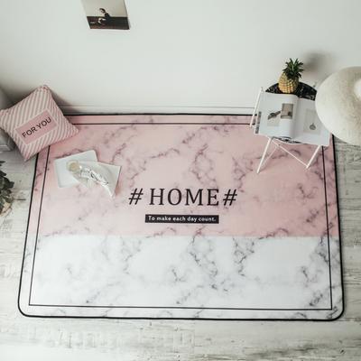 2018新款-8月新大版地垫 150*190cm 粉色大理石HOME