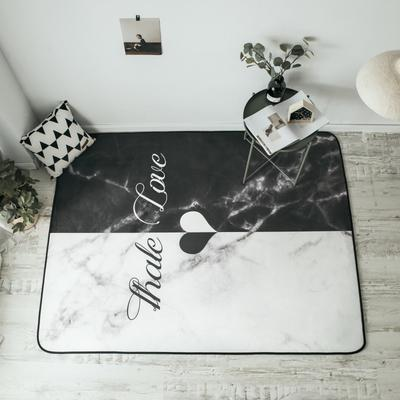 2018新款-8月新大版地垫 150*190cm 黑白爱心