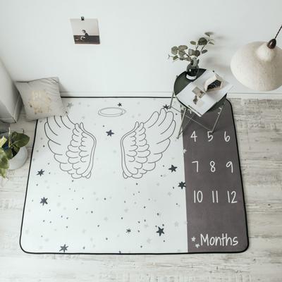 2018新款-8月新大版地垫 150*190cm 天使的翅膀