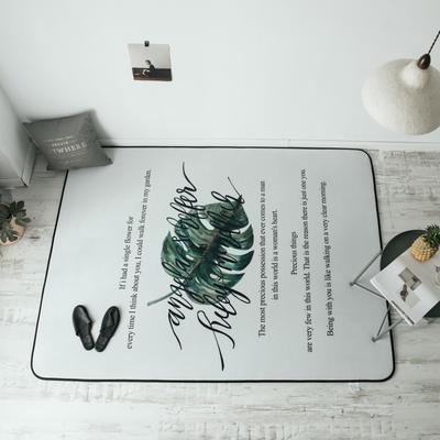 2018新款-8月新大版地垫 150*190cm 字母龟背竹